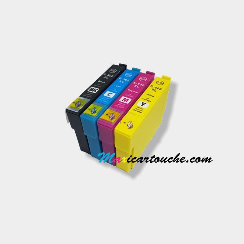 Compatible Epson Multipack 4-couleurs ou individuelles 502XL