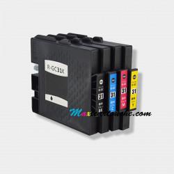 Encre Compatible Ricoh GC31 Cartouche D'encre pour Aficio