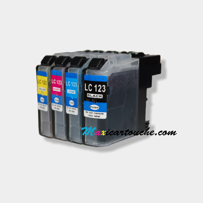 Encre Brother LC123 Pack de 4.