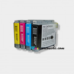 Encre Brother LC1000 Pack de 4.