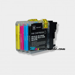 Encre Brother LC980-1100 Pack.